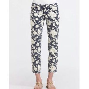 Tory Burch Alexa Floral Cropped Skinny Jeans 29